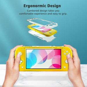 Crystal-Transparent-Case-Shell-for-Switch-Lite-Hard-PC-Protecive-Cover-Case-Tempered-Film-Protector