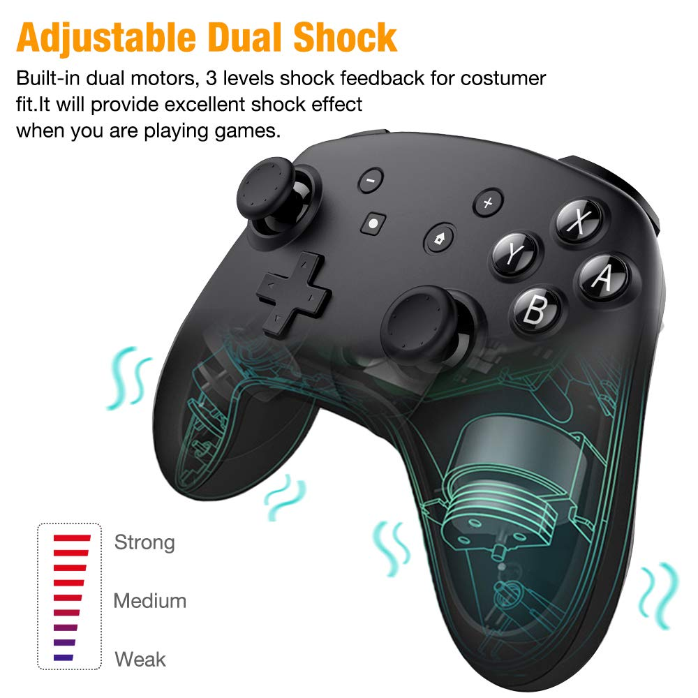 GCONTROLLERS Wireless Gamepad for Nintendo Switch Consoles with NFC Function